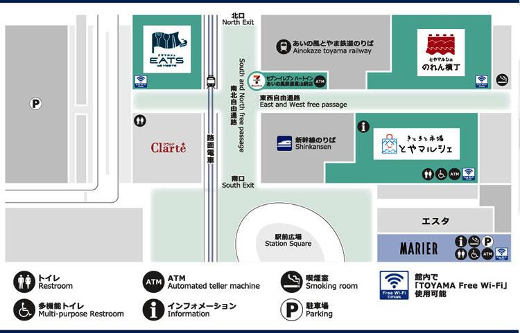 2020年6月のJR富山駅のとやマルシェの全体図