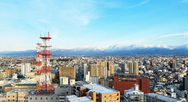 富山県の人気観光スポット富山市役所展望塔のライブカメラの映像