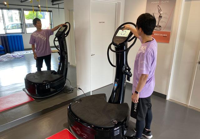 富山市二口町の接骨院プロデュースのセミパーソナルジム「ゆめたかトレーニングジム」のパワープレートの設定