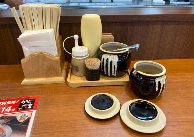 唐揚げ専門店からやま富山飯野店のテーブルセット