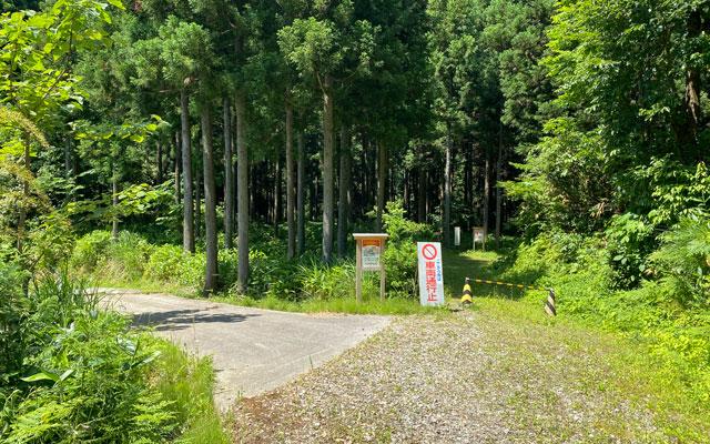 富山県上市町の「まま子滝」への道順2
