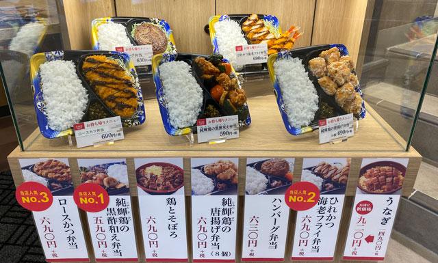 JR富山駅とやマルシェのれん横丁の「おひつごはん 四六時中」の弁当メニュー