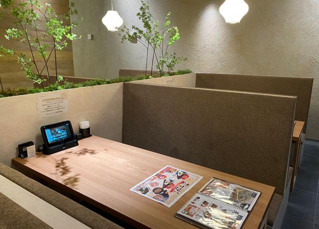 富山市黒瀬の蕎麦屋「OLIMBA オリンバ」の店内の様子