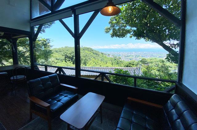 富山市呉羽城山のコワーキングスペース&カフェ「空の森」からの眺め・景色