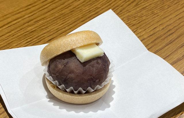 富山市の総曲輪ベース、餅屋持ちもなか源七のあんバター