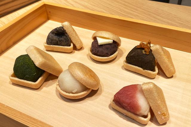 富山市の総曲輪ベース、餅屋持ちもなか源七の餅もなか