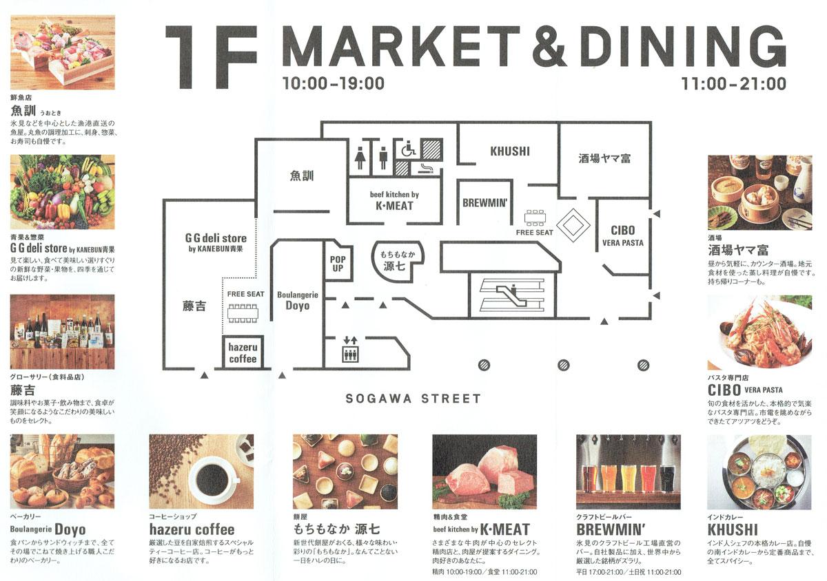 総曲輪ベースの店舗紹介とフロアマップ