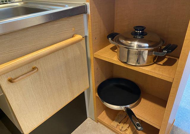 富山市のペットと泊まれる宿「ふれあいの里ささみね」の調理器具