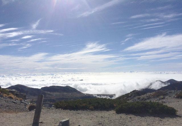 立山三山縦走したときに見えた雲海