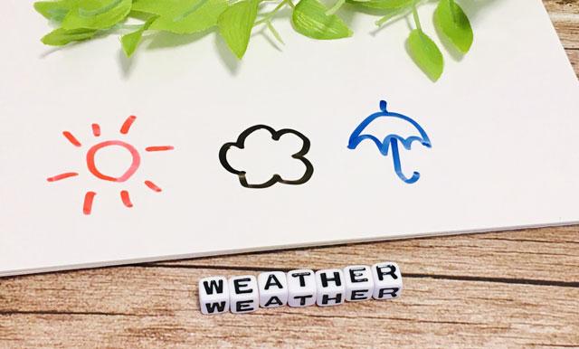 天気予報の可愛いイラスト