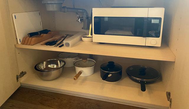 富山県南砺市井波のベッドアンドクラフトRoKu(ロク)のキッチン家電