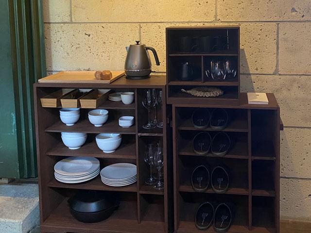 富山県南砺市井波のベッドアンドクラフトRoKu(ロク)の食器など