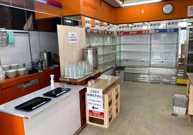 富山市旧大沢野の無添加無化調のラーメン屋「煮干しそば 銀」の注文カウンター