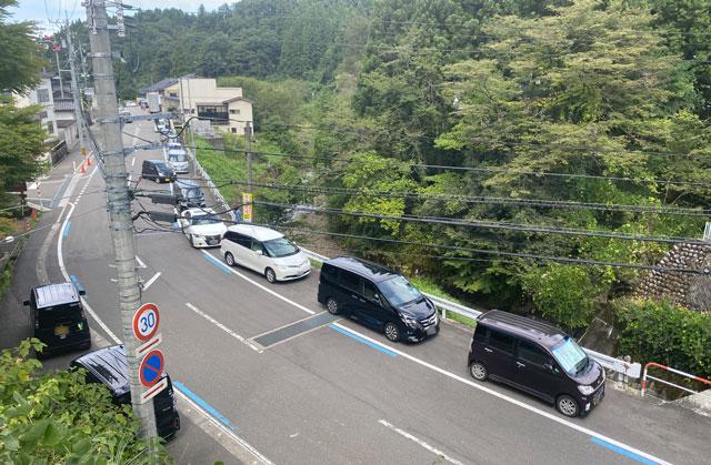 富山県上市町大岩エリアの素麺屋の大混雑