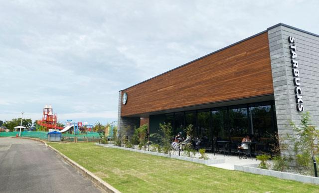 スターバックスコーヒー射水歌の森運動公園店の店舗外観