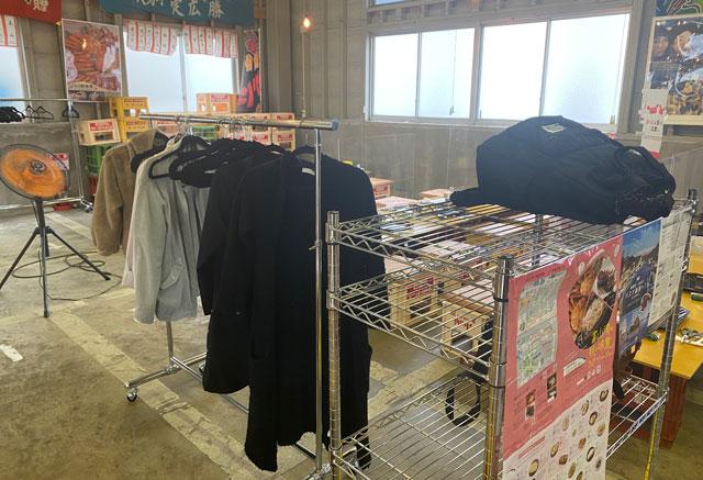 富山県射水市の観光施設「新湊カニ小屋」のクローゼット