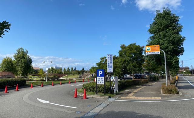 富岩運河環水公園の無料駐車場