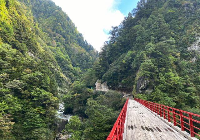 黒部峡谷鉄道 欅平駅の観光スポット奥鐘橋
