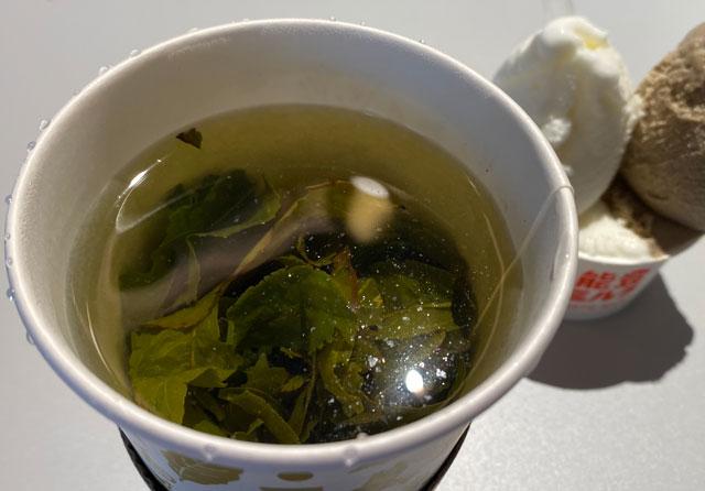 富山市環水公園のそば「環水テラス」のティースタンド「点点茶」の黄金桂(中国烏龍茶)