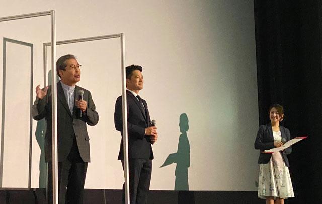 富山がロケ地の映画『大コメ騒動』の舞台挨拶、立川志の輔師匠