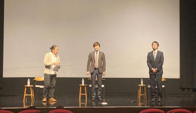 富山市議会議員の政務活動費不正問題を題材にした映画『はりぼて』のポスター