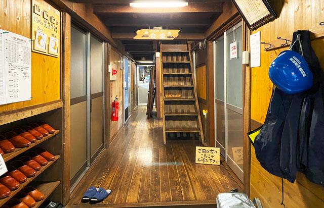 富山県黒部市宇奈月町の秘湯黒薙温泉の食堂