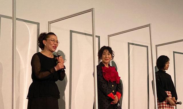 富山がロケ地の映画『大コメ騒動』の舞台挨拶、柴田理恵さん