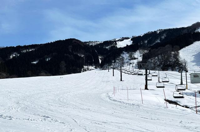 立山山麓スキー場(極楽坂)のゲレンデ
