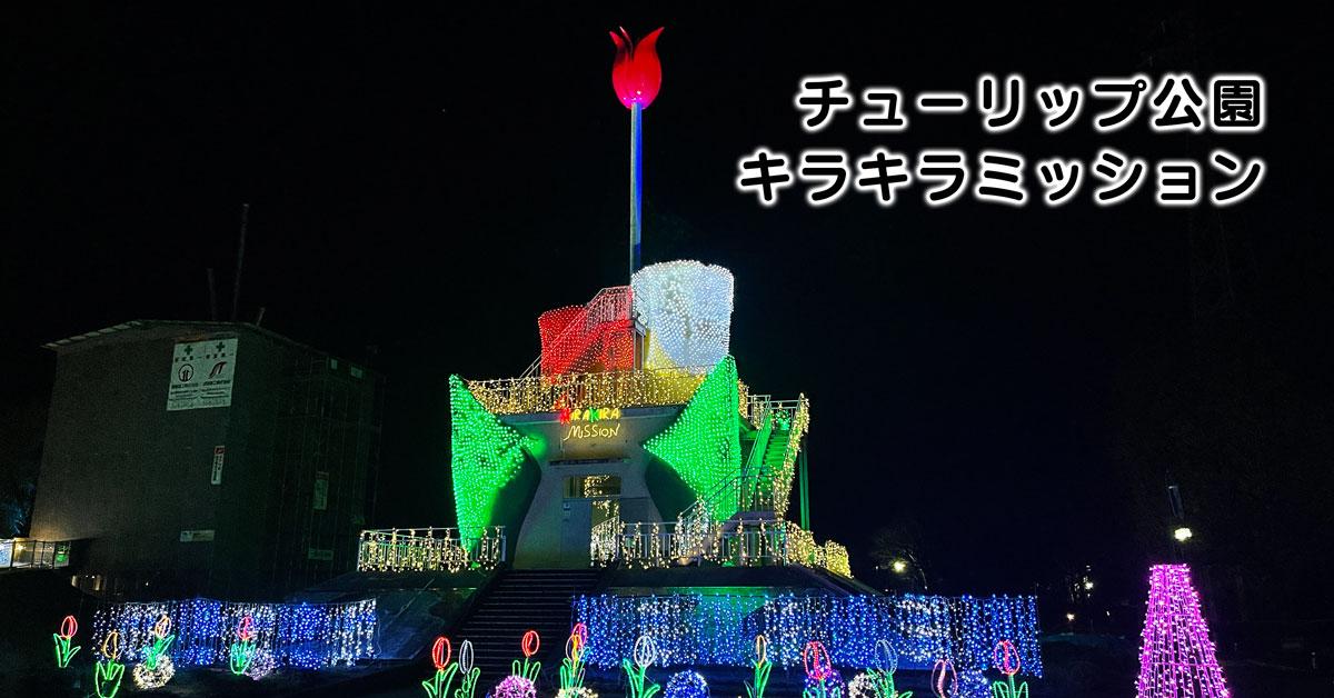 【キラキラミッション】砺波チューリップ公園のイルミネーション!