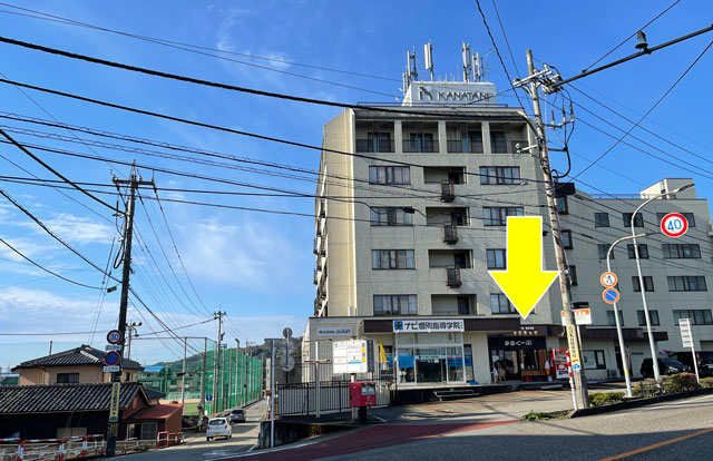 富山市五福のハンバーガーやソフトクリーム、クレープの店「まるくーぷ」の店舗外観1