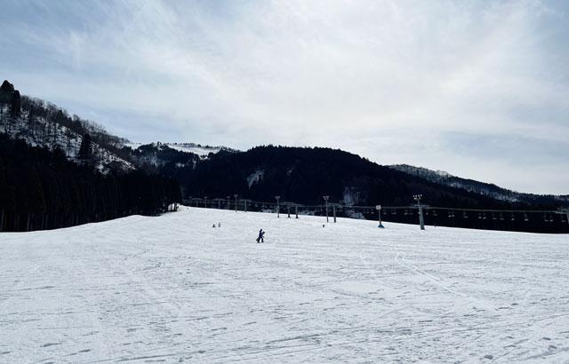 立山山麓スキー場(らいちょうバレー)のゲレンデ