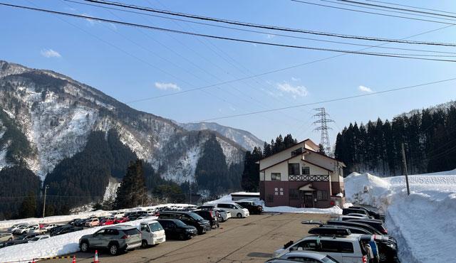 南砺市五箇山のタカンボースキー場の休憩&宿泊施設