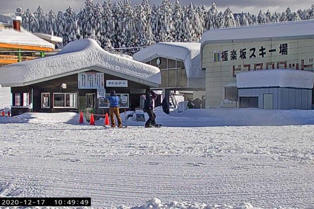 立山山麓スキー場(らいちょうバレーエリア・極楽坂エリア)のライブカメラ(ビスタスクワッド乗り場)