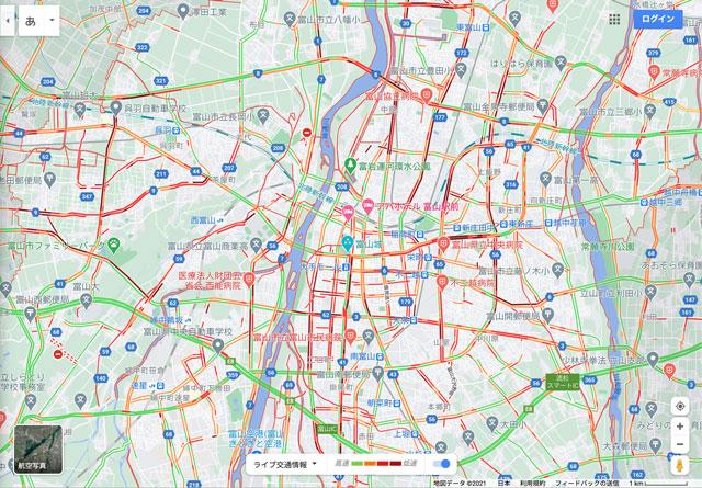 ライブ交通情報・渋滞情報が分かるGoogleマップ
