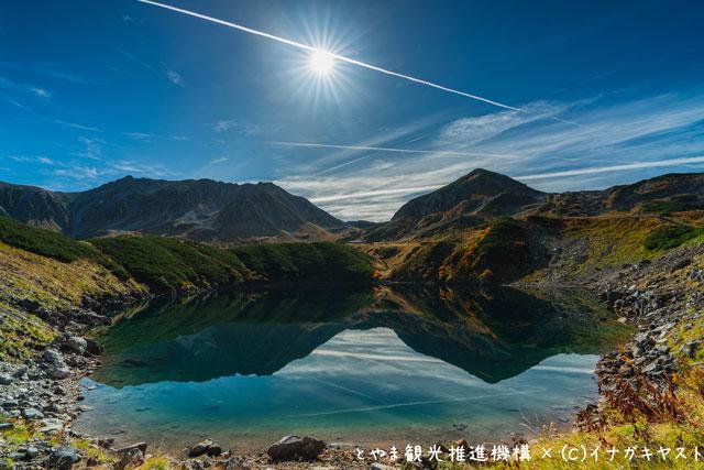 富山の写真家イナガキヤストさんが撮影した立山室堂にあるみくりが池