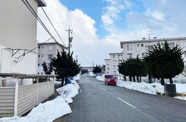 オール富山ロケ地の映画「おもいで写真」のロケ地、射水市の太閤山団地2