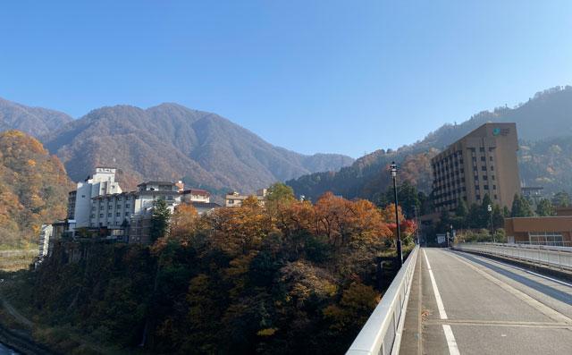 富山県黒部市宇奈月温泉の面影橋