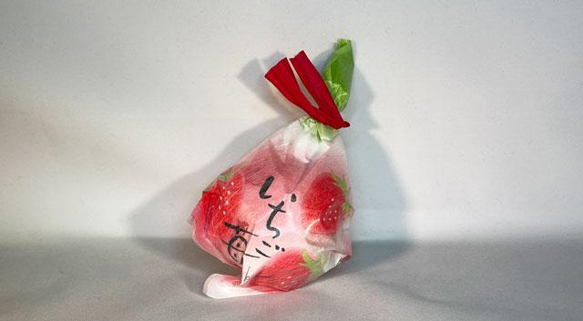 「江出乃月本舗 志乃原」の「苺とみるくの大福」の可愛いパッケージ