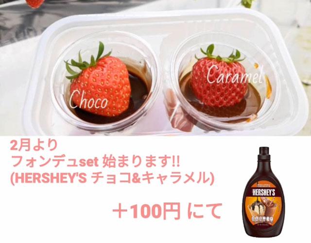 富山市のまちなかで苺狩りができる「徳徳ハウス」のソースセット