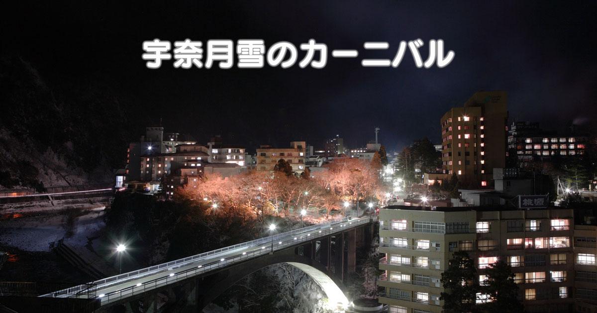 【宇奈月温泉雪のカーニバル】音楽花火に松明ウォーク、左義長も!