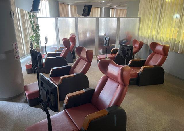 富山県高岡市の北陸健康センターアラピアのプライベート休憩室(2F)のテレビ