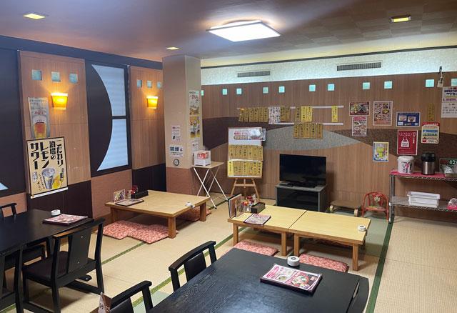 富山市山室にある宿泊もできる浴場施設「スパ・アルプス」のアルプス食堂(女性)