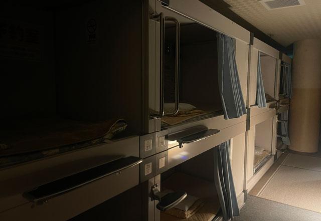 富山市山室にある宿泊もできる浴場施設「スパ・アルプス」の宿泊カプセルホテル