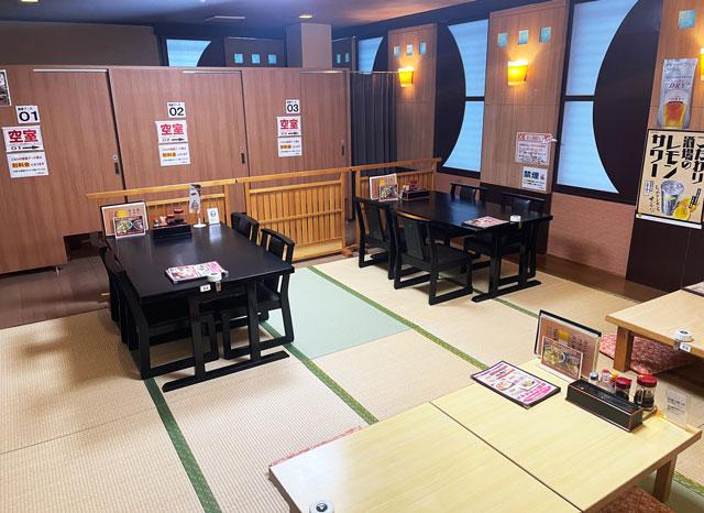 富山市山室にある宿泊もできる浴場施設「スパ・アルプス」の個室ブース(女性)