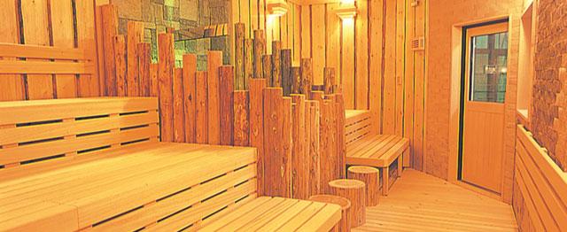 富山市山室にある宿泊もできる浴場施設「スパ・アルプス」のサウナ全体