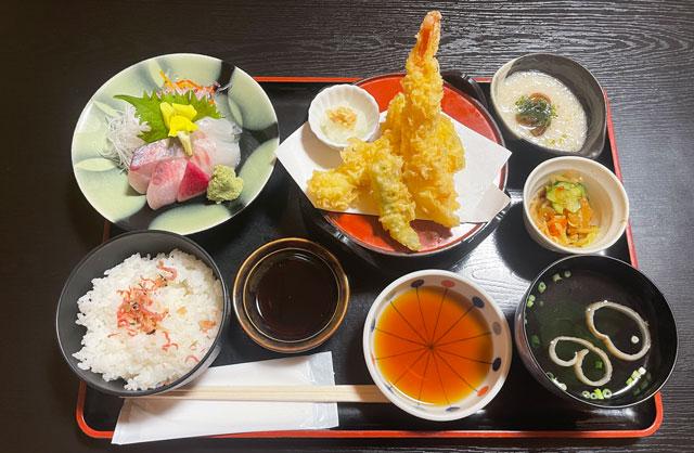 富山市山室にある宿泊もできる浴場施設「スパ・アルプス」のアルプス御膳