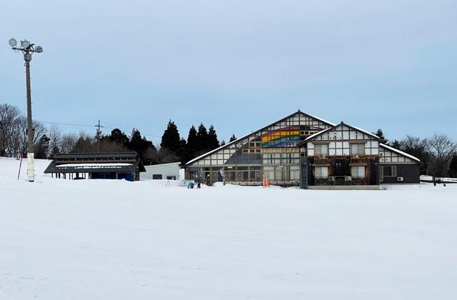 富山県砺波市のとなみ夢の平スキー場の宿泊施設コスモス荘