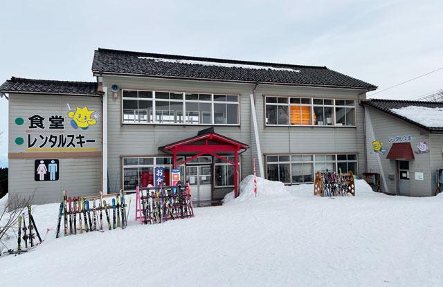 富山県砺波市のとなみ夢の平スキー場のロッヂ