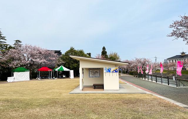 「鏝絵と下条川千本桜まつり」の会場