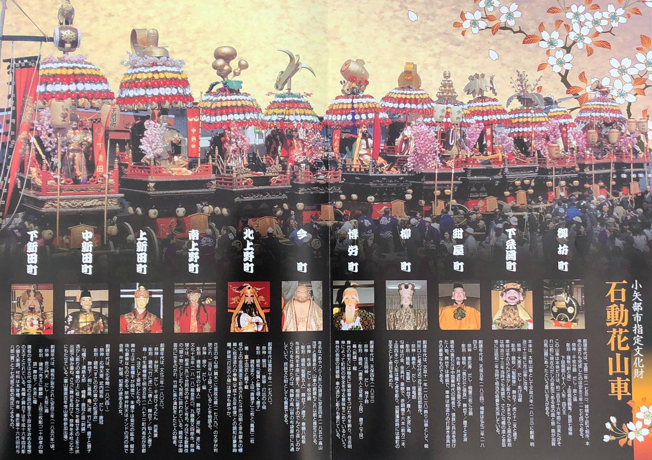 富山県小矢部市の三代祭りの一つ「石動曳山祭」の参加町内一覧